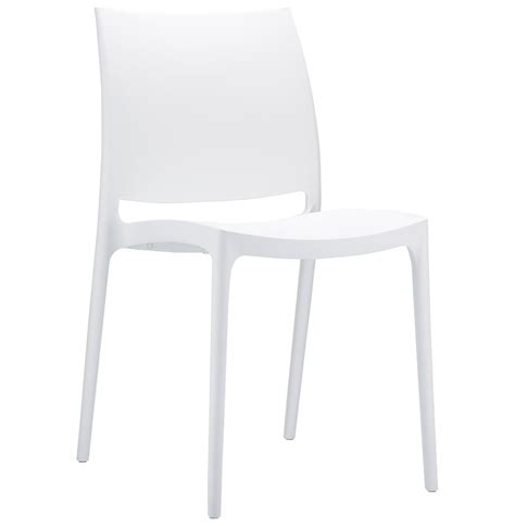 chaise plastique blanche chaise design enzo blanche chaise moderne