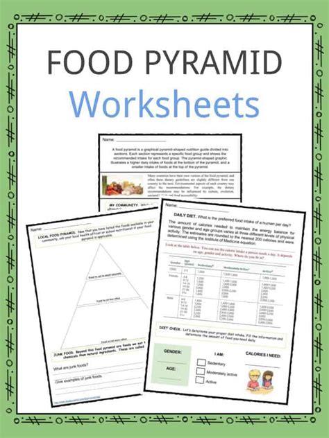 food pyramid facts worksheets key information  kids