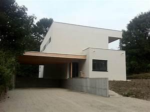 maison ossature bois toit plat mzaolcom With maison toit plat en l 1 maison en kit toit plat