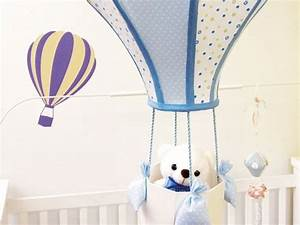 6 DIY baby room decor ideas - Make hot air balloon themed