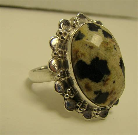 large black jasper gemstone opaque ring 7 5g sterling silver 925 size 9 ebay