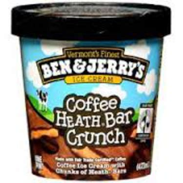 This time, i tried the vanilla toffee crunch and i think it.is my new favorite! Ben & Jerry's Coffee Heath Bar Crunch Ice Cream reviews in Ice Cream - ChickAdvisor