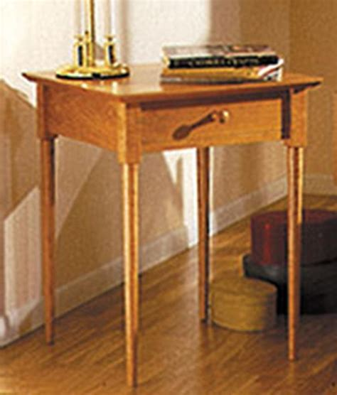 shaker nightstand plans  woodworking projects plans