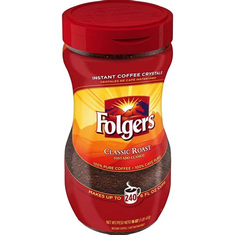 Is there any calories in folgers classic roast instant coffee? Folgers® Classic Roast® Instant Coffee Crystals - SmartLabel™
