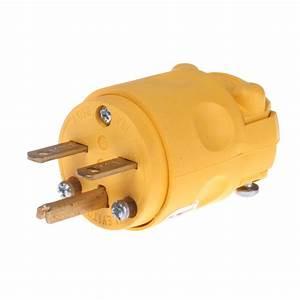 Plug Male Cord Connector 15 A 220v