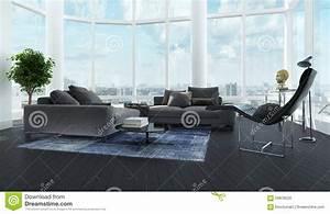 interieur noir et blanc de luxe moderne de salon photo With tapis de sol avec canapé cuir luxe