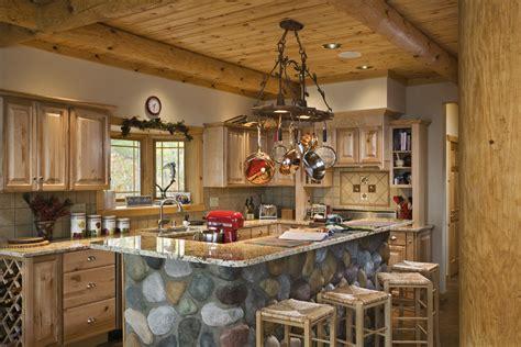 log home kitchen islands log home kitchens 7156