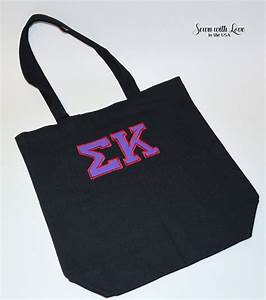 greek letter sorority tote bag sorority by With sorority letter bags
