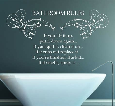 Bathroom Quotes Uk by Bathroom Quote Vinyl Wall Sticker Decal Mural