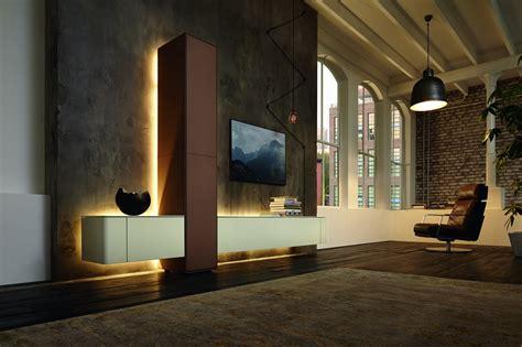 bibliothèque bureau intégré hülsta gentis mobilier urbain en bois massif et cuir