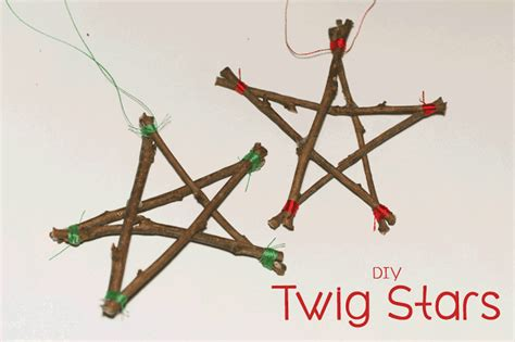 beautiful christmas twig decorations