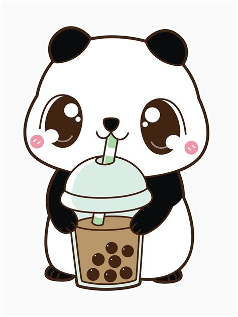 boba panda  classic milk tea white slim fit