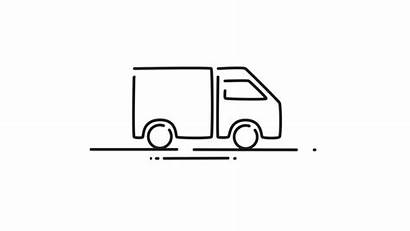 Delivery Truck Moving Animation 2d Clip Cartoon