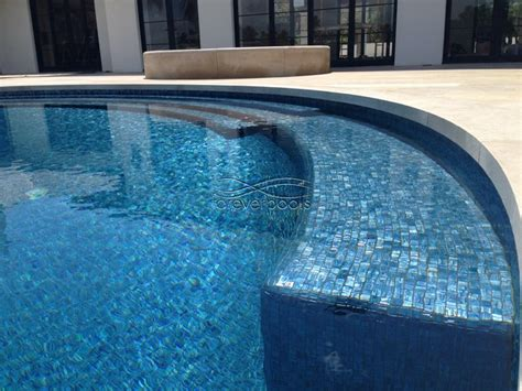 blue marine glass tile moon collection contemporary