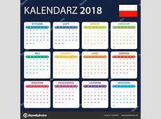 Polski kalendarz do 2018 r Harmonogram, agendy lub