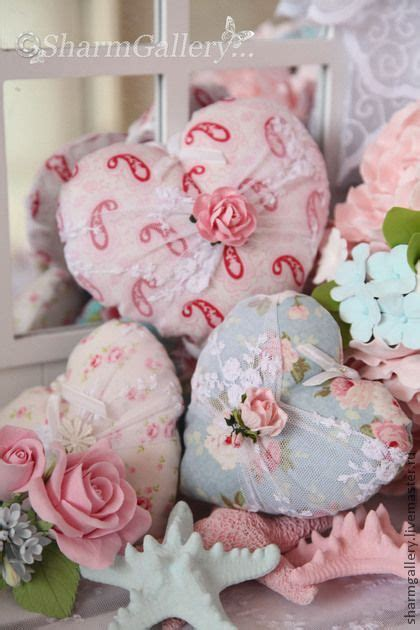 shabby fabric hearts shabby chic fabric heart and shabby chic on pinterest