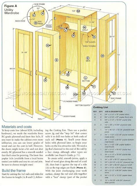 Simple Wardrobe Plans • Woodarchivist