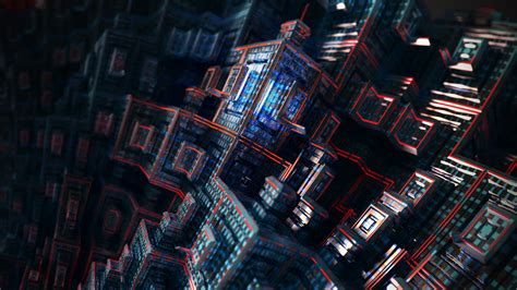 Wallpaper Cubes, 3d, Dark, 4k, Abstract, #8472