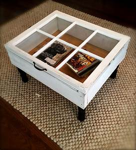 Reclaimed Window Coffee Table with Storage by OhGloryVintage