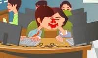 jeux de bisous au bureau bisous en cachette au bureau jeu de fille
