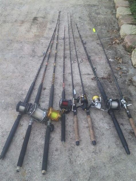grouper fishing rods rigs spinning reel trolling poles spin pen