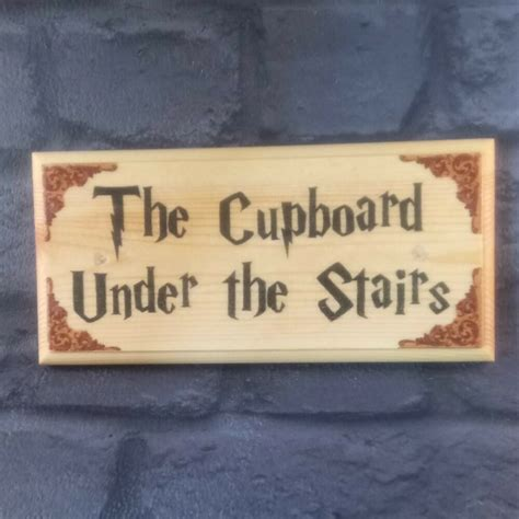 cupboard   stairs plaque sign gift harry