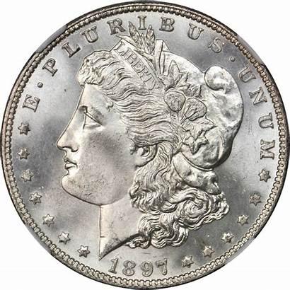 Dollar 1897 Morgan Silver Value Rare Coins