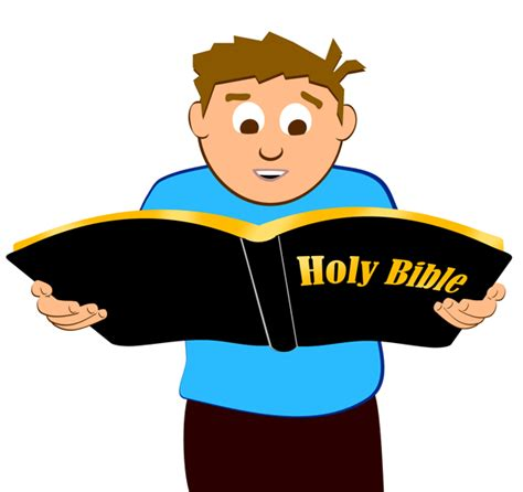 Reading Bible Clip Art Free