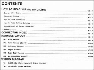 1988 Nissan Stanza Wagon  Multi Wiring Diagram Manual Original