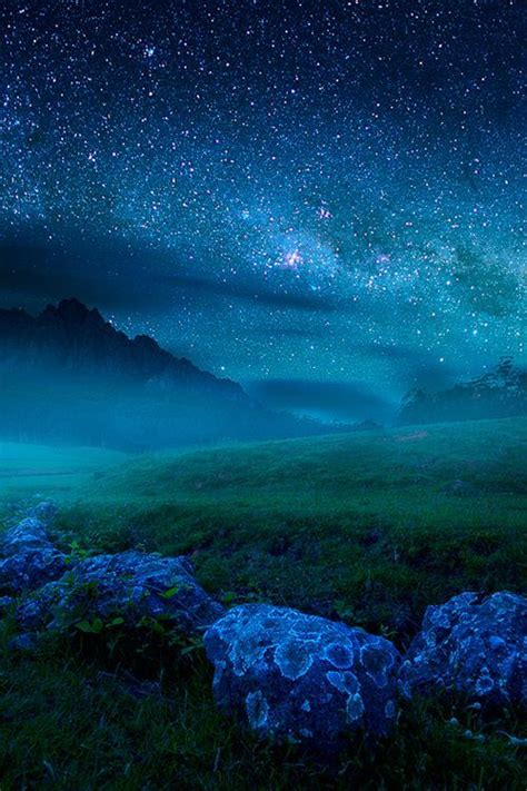 Beautiful Starry Night Turquoise Teal Pinterest