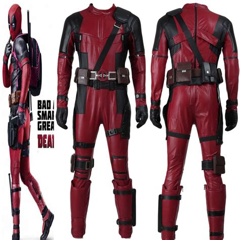 Top Replica Deadpool Outfit Movie Cosplay Custommade Full