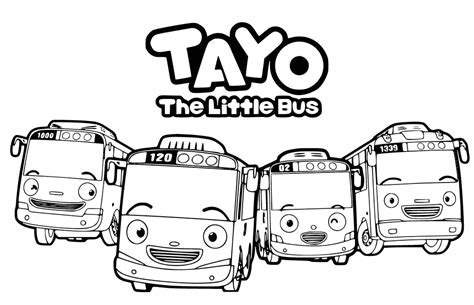 tayo   bus coloring pages getcoloringpagescom