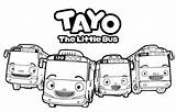 Tayo Coloring Pages Printable Bus Gambar Cartoon Getcoloringpages Kartun Dari Disimpan sketch template