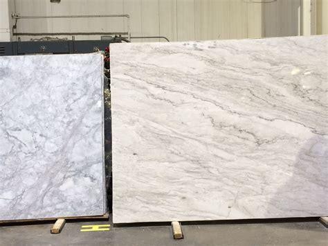 Quartzite Vs Granite Countertops - white quartzite left vs white pearl quartzite