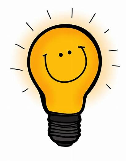 Bulb Thinking Happy Clipart Creative Understand Learning