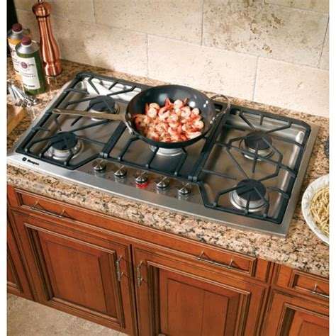 ge zgunsmss monogram  stainless steel gas cooktop