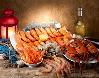 Seafood Shrimp Wallpapers Background Scampi Clam 4k