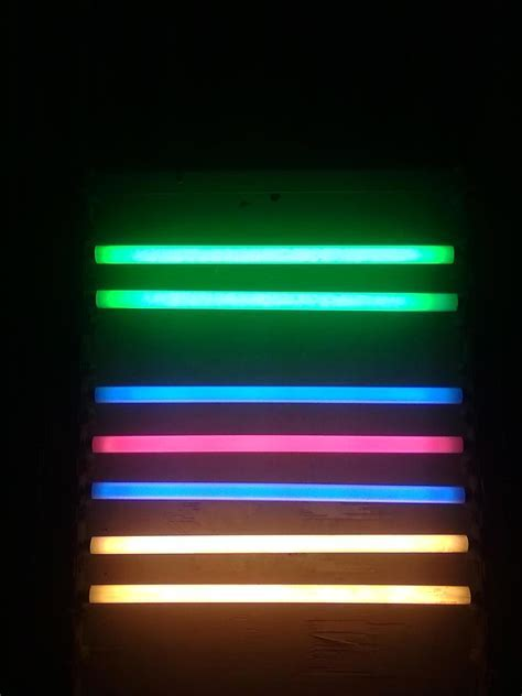 Fluorescent Lights: Color Of Fluorescent Light. Colored