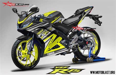 modifikasi striping all new yamaha r15 black yellow rc motoblast