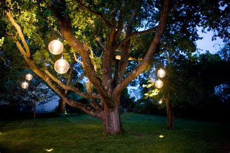 in summer trees orb lighting ideas for pool and patio Lights