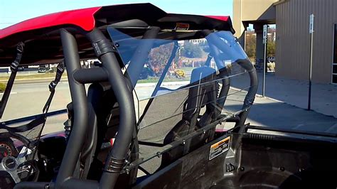 2013 CAN-AM COMMANDER 1000 XT RED TOP WINDSHIELD AND BACK ...