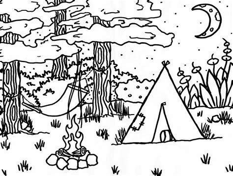 camping coloring pages getcoloringpages 673 | rn9wwuq