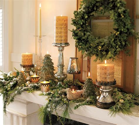 Pottery Barn Indoor Outdoor Curtains by Christmas Mantel Decorating Ideas