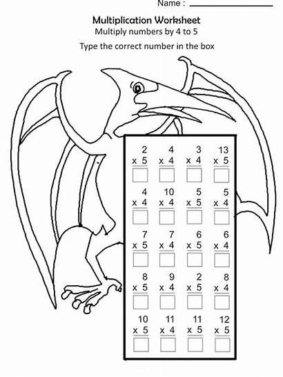 Multiplication Coloring Worksheets Math 5th Worksheet Grade