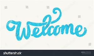 welcome sign lettering stock vector 547087396 shutterstock With welcome sign letters