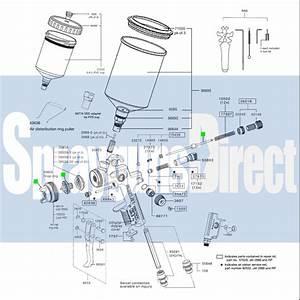 Satajet 2000 Hvlp Digital Spray Gun Discontinued Spares Only