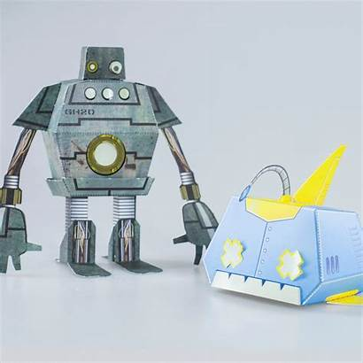 Robots Paper Crafting Getdigital