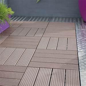 dalle de bois pour patio mzaolcom With dalles clipsables pour terrasse