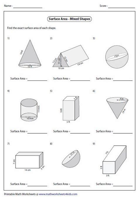 surface area  mixed shapes  grade math pinterest