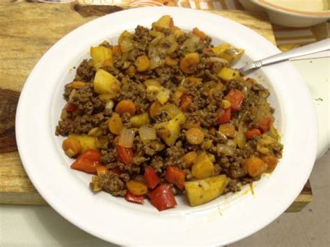 ground meet recipes mabel s semi paleo ground beef and veggies recipe sparkrecipes